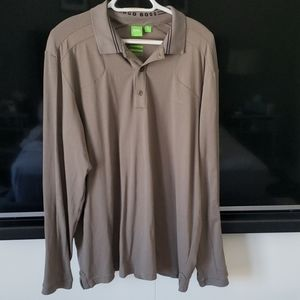 Hugo Boss slim fit long-sleeved polo shirt in XXL